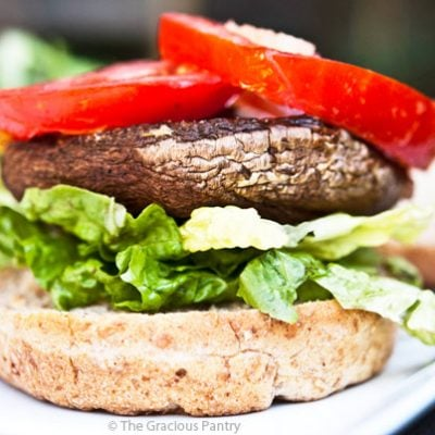 Portobello Mushroom Burgers Recipe (With Lemon)