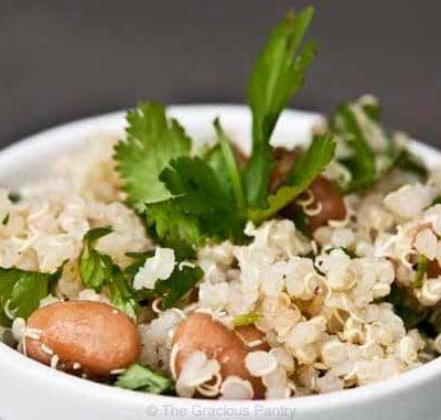 Clean Eating Cilantro Quinoa Salad Recipe