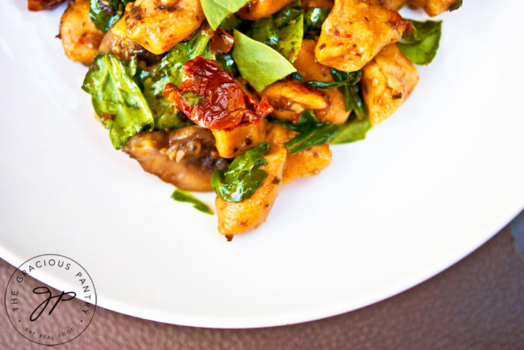 Clean Eating Sweet Potato Gnocchi With Mushrooms And Sun Dried Tomatoes Recipe For Dinner