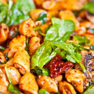 Clean Eating Sweet Potato Gnocchi With Mushrooms And Sun Dried Tomatoes Recipe