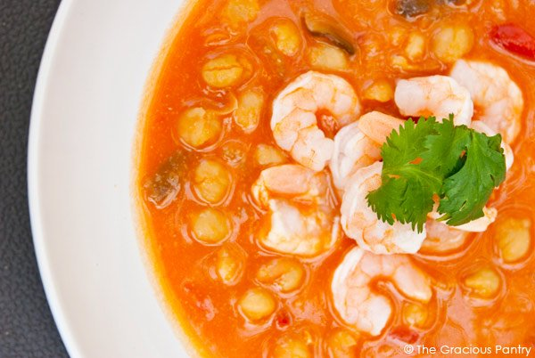 Clean Eating Thai Shrimp And Chickpea Soup Recipe