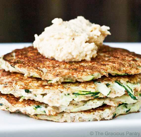stack of Clean Eating Breakfast Zucchini Fritters