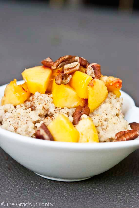 Clean Eating Peaches And Millet Recipe