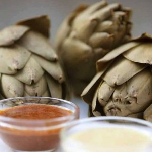 Clean Eating Artichokes With Non-Butter Dip