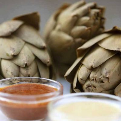 Clean Eating Artichokes And Dip Recipe