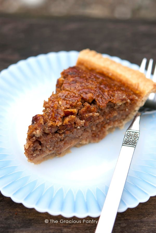 Clean Eating Pecan Pie Recipe Served