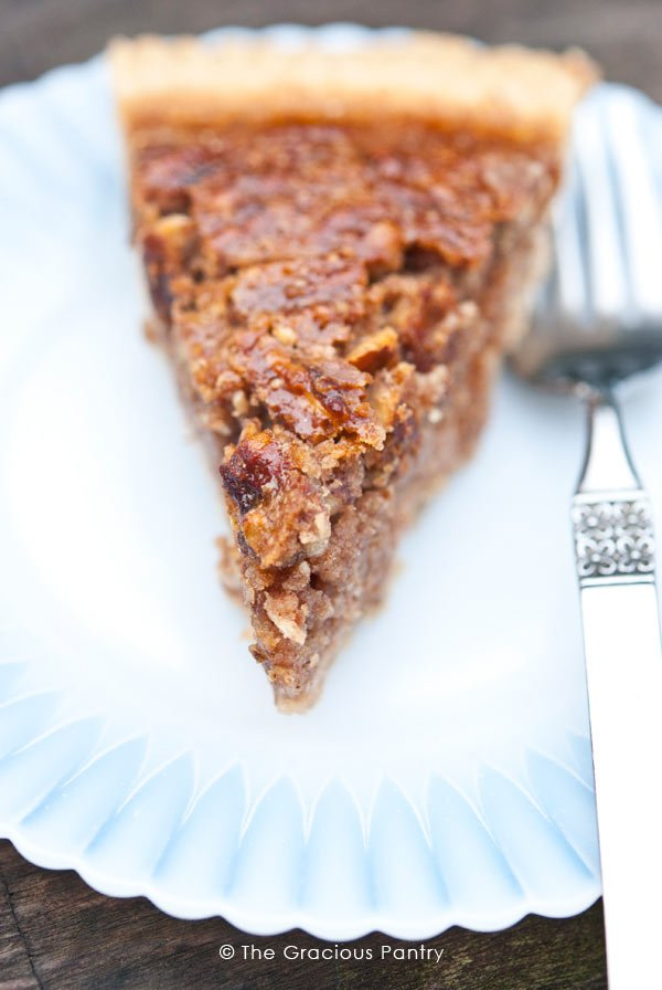 Naturally Sweetened Pecan Pie Recipe