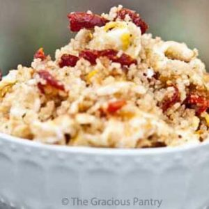 Clean Eating Sun Dried Tomato Breakfast Couscous