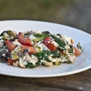 Clean Eating Egg White Veggie Omelette