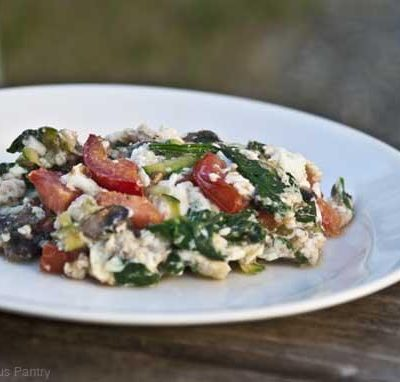 Clean Eating Egg White Veggie Omelette Recipe
