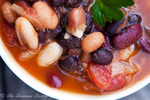 Clean Eating 4 Bean Chili Recipe