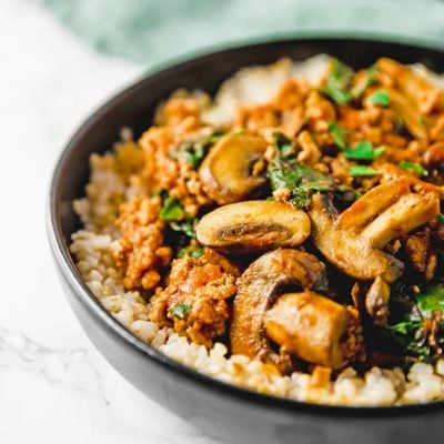 Clean Eating Mushroom Brown Rice Bowl Recipe