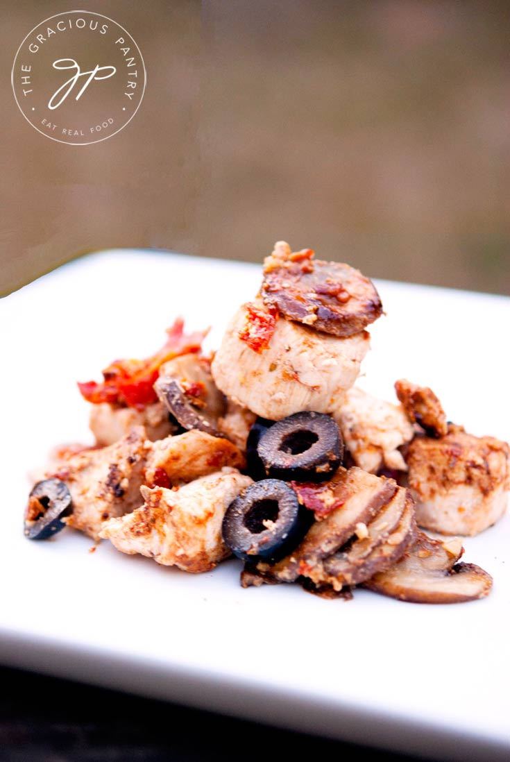 Clean Eating Sun Dried Tomato and Olive Chicken Recipe