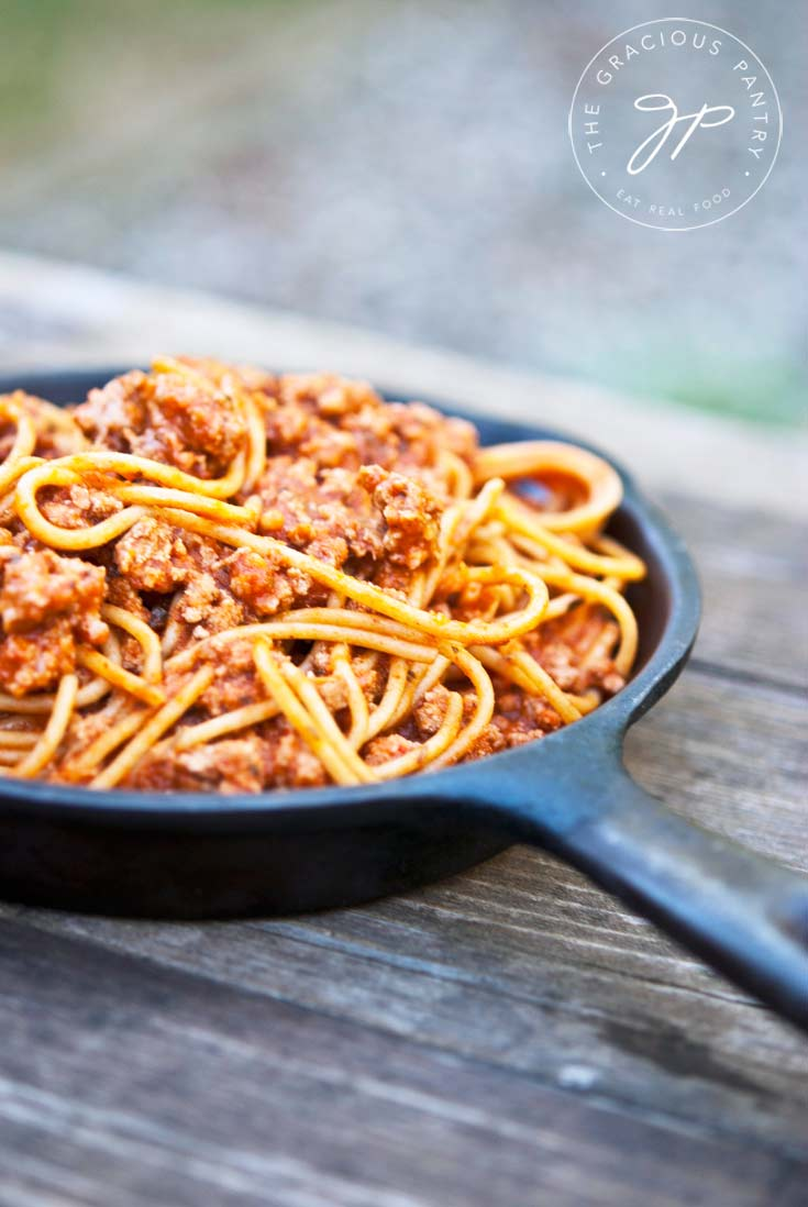 Clean Eating Skillet Spaghetti Recipe