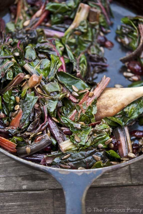 Clean Eating Cranberry Rainbow Chard