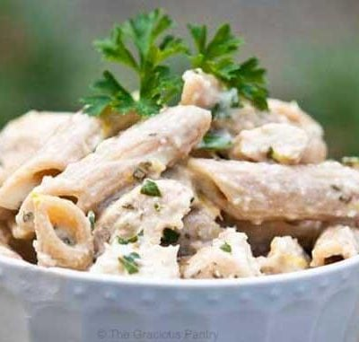 Clean Eating Chicken Penne In Lemon Basil Sauce