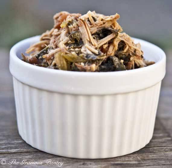 Clean Eating Slow Cooker Pork & Kale