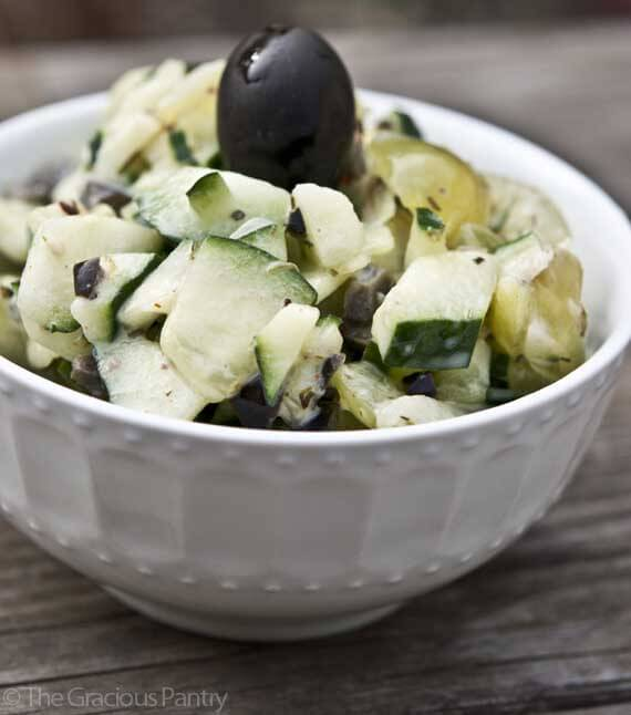 Clean Eating Greek Cucumber Salad