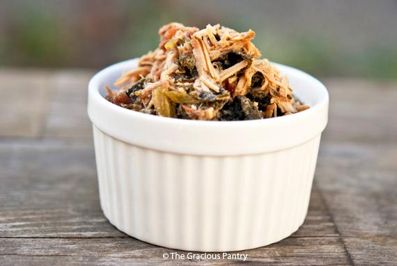 Clean Eating Slow Cooker Pork & Kale Recipe