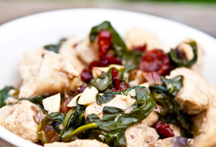 Clean Eating Coconut Almond Cranberry Chicken Recipe