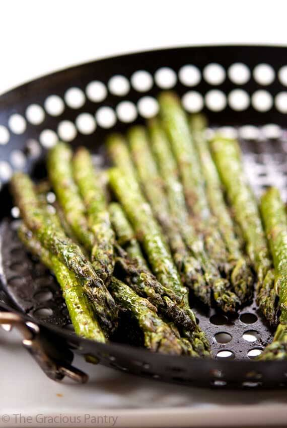 Clean Eating BBQ Garlic & Dill Asparagus