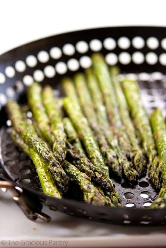 Clean Eating BBQ Garlic & Dill Asparagus Recipe