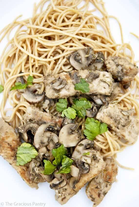 Clean Eating Mushroom And Rosemary Pork Scallopini