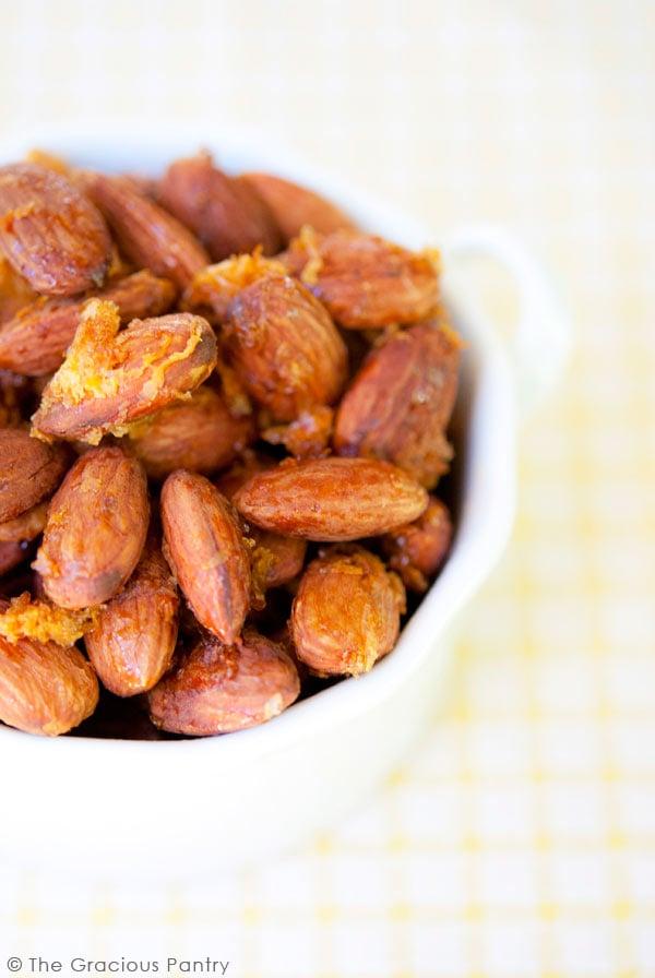 Clean Eating Lemon & Honey Almonds Recipe
