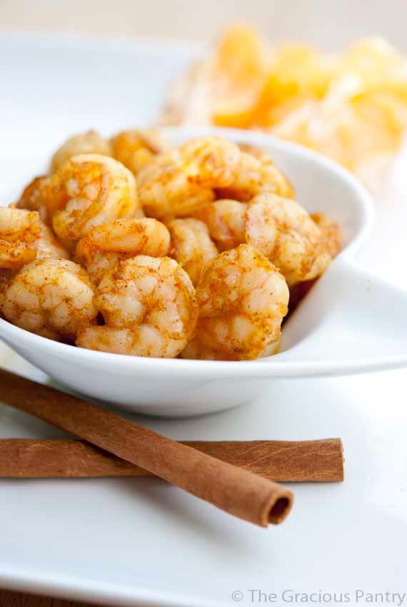 Clean Eating Spicy Orange Cinnamon Shrimp