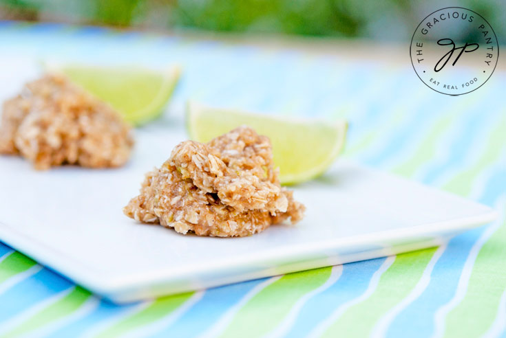 Clean Eating Coconut Lime Freezer Cookies (No-Bake)