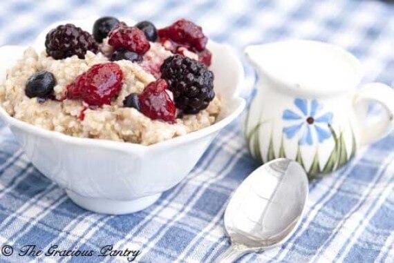 Clean Eating Triple Berry Oatmeal Recipe