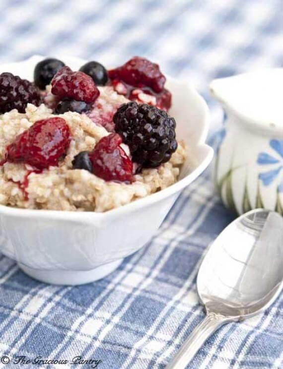 Clean Eating Triple Berry Oatmeal