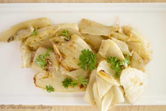 Clean Eating Baked Parmesan Fennel