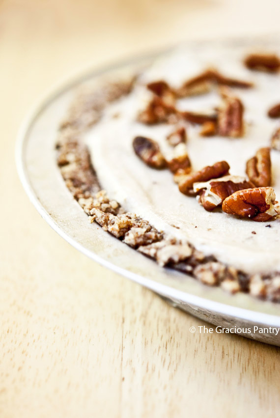 Clean Eating Banana Pecan Ice Cream Pie