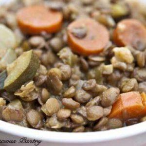 Clean Eating Curried Lentils