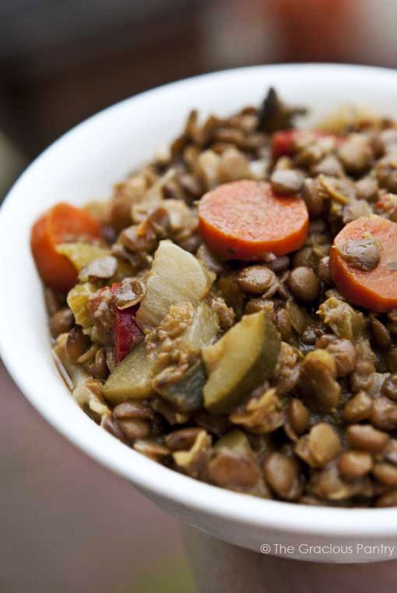 Clean Eating Curried Lentils Recipe
