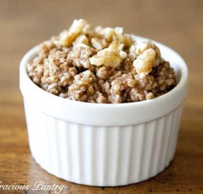 Gingerbread Oatmeal Recipe