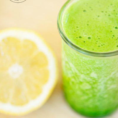 Clean Eating Green Lemon Pineapple Smoothie Recipe