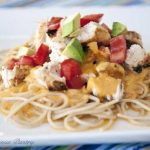 Clean Eating Chicken Tex Mex Alfredo Pasta