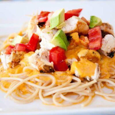 Chicken Alfredo Pasta (Tex Mex Style)