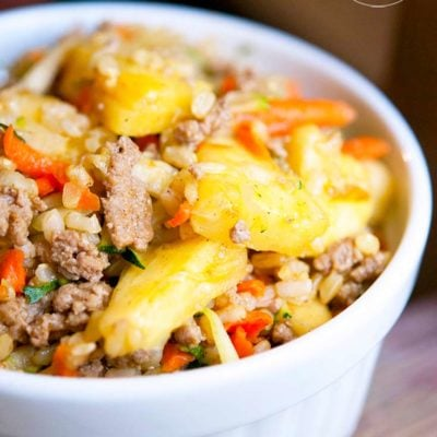 Curry Pineapple Turkey Rice Bowl Recipe