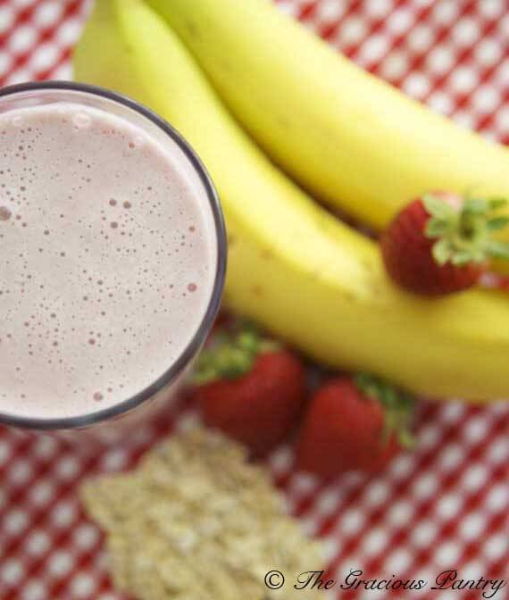 Clean Eating Strawberry Oatmeal Smoothie