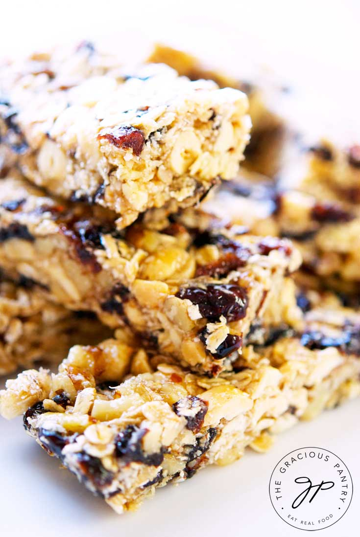 Clean Eating Nutty Coconut Granola Bars