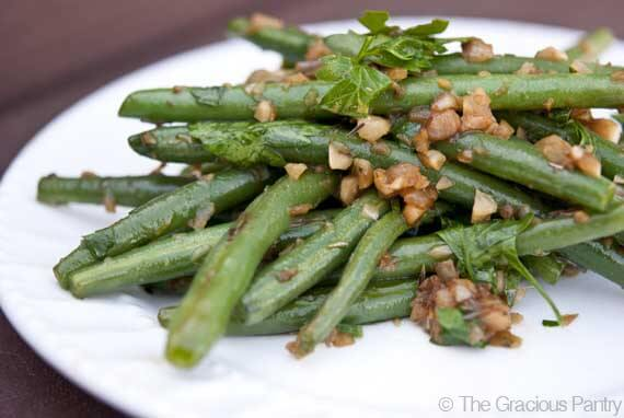Garlicky Green Beans with Shallots Recipe