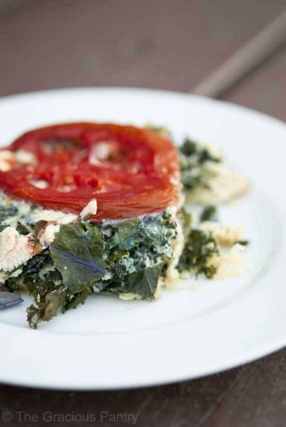 Clean Eating Leftover Turkey & Super Greens Frittata