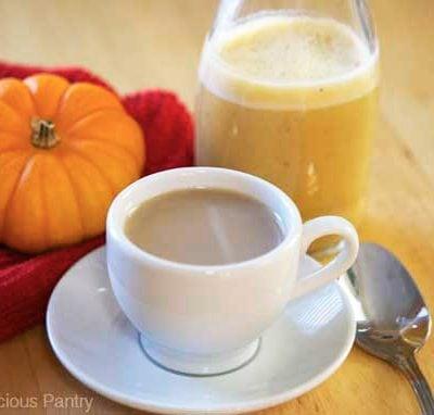 Clean Eating Pumpkin Pie Coffee Creamer