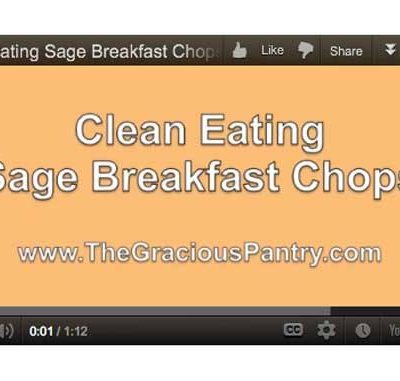 Clean Eating Sage Breakfast Chops