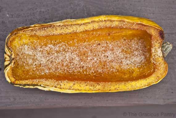 Clean Eating Baked Delicata Squash