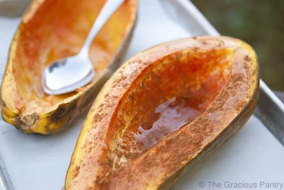Clean Eating Roasted Maple Papaya