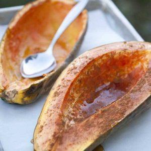 Clean Eating Roasted Maple Papaya